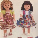 "Simplicity Sewing Pattern 3936 18"" Doll Clothes Dress Pants Skirt Poncho New"