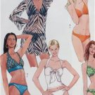 McCalls Sewing Pattern 5400 Misses Two Piece Bathing Suit Cover Up S 12-18 New