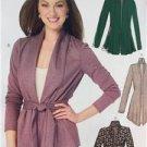 McCalls Sewing Pattern 6996 Ladies Misses Jacket Belt Size 16-26 L-XXL New
