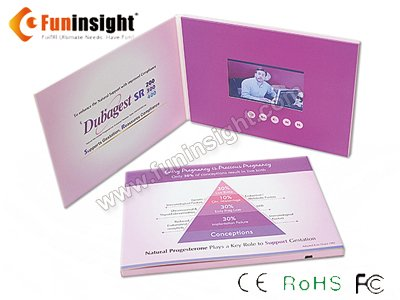 Innovative 4.3�� Video Brochure LCD Card Marketing Tool from China Supplier