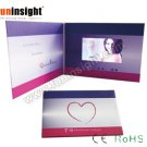 5 inch HD Screen Video Card LCD Brochures 256MB Multiple Buttons CMYK Print