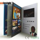 7 inch Hard Cover Video Book LCD Card 256MB A5 Landscape for Invitations