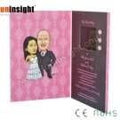 Personalized 2.4 inch Video Card LCD Wedding Invitation Brochure FVB246