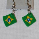 Handmade Polymer Clay Brazilian Flag Earrings - set 8