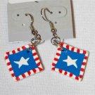 Handmade Polymer Clay American Flag Earrings - set 9