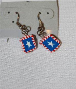 Handmade Polymer Clay American Flag Earrings - set 2