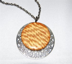 Handmade Polymer Clay Necklace with matching Earrings - set 15