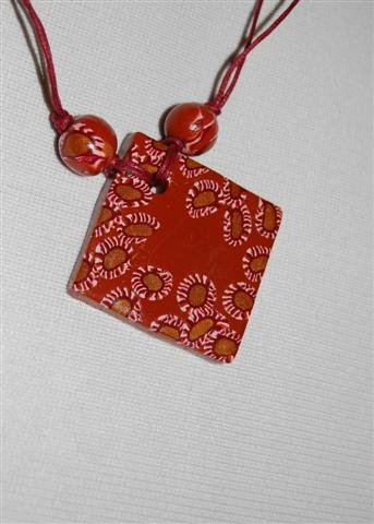 Handmade Polymer Clay Necklace with matching Earrings - set 20