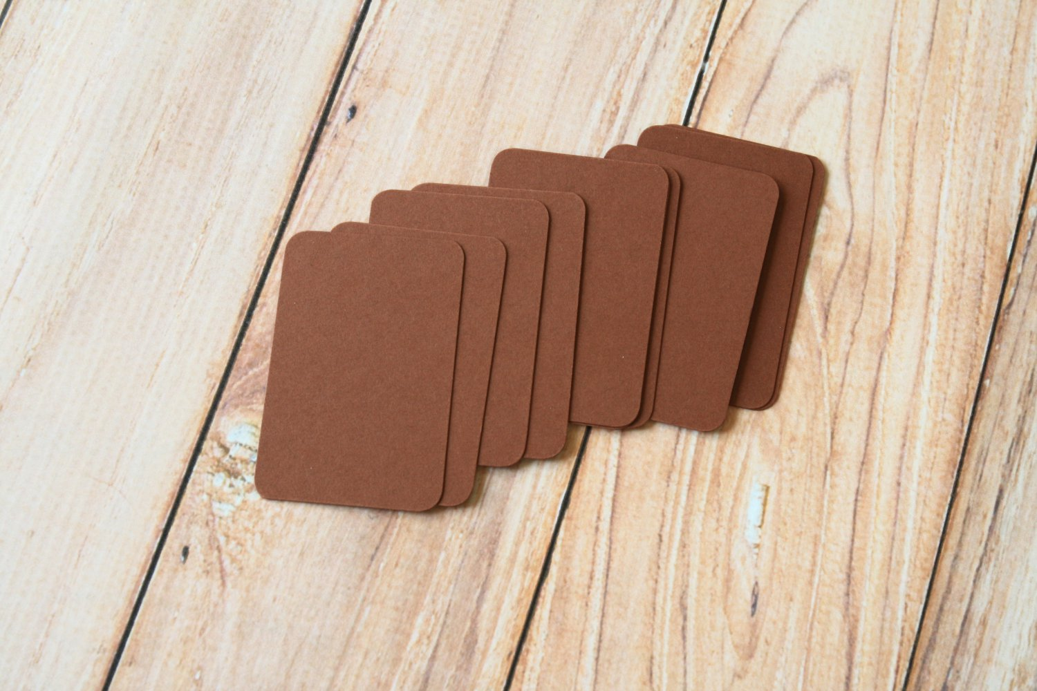 Chocolate Brown blank business cards