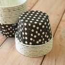 Black Polka Dots paper Candy Cups cupcake liner