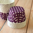 Purple Polka Dots paper Candy Cups cupcake liner