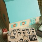 Anne of Green Gables House cartoon rubber stamp set
