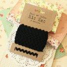 Black Ric Rac Ribbon reel