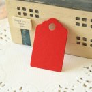 Scarlet Red mini scallop swing tags