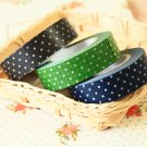 Classiky Dark Polka Dots Washi Tape Set