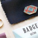 Pattern Iconic Retro Badge brooch pin