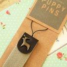 Deer Puppy Pins gadget phone strap wristlet