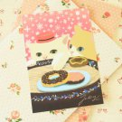 Cake Choo Choo Cat cartoon postcard