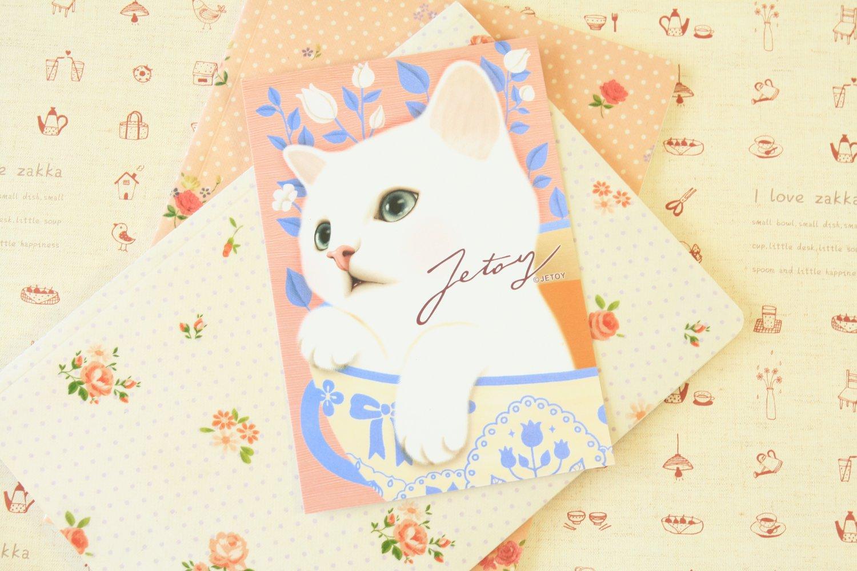 Cocoa Choo Choo Cat cartoon postcard