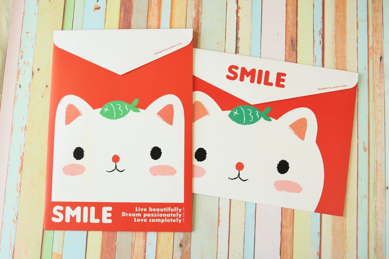 Heart Cat Smile Dada cartoon file bag envelopes