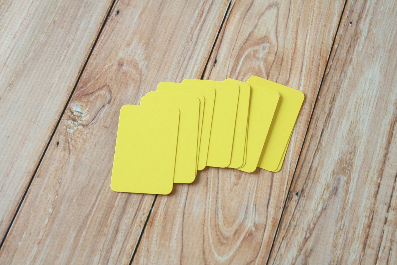 Lemon Yellow blank business cards