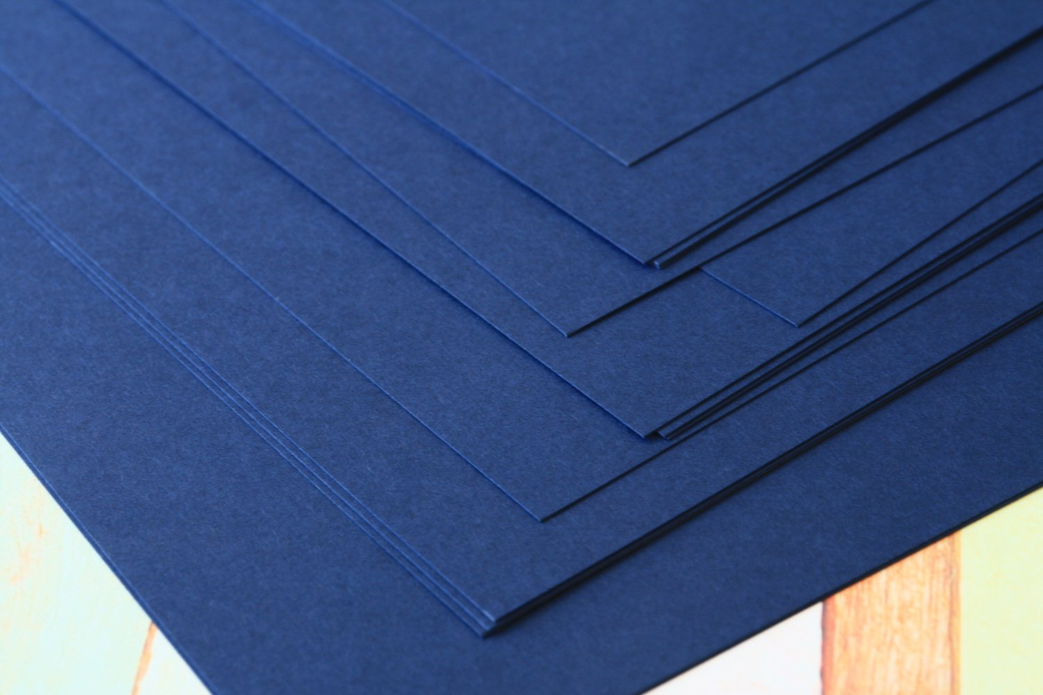 Blueberry Navy cardstock 260gsm 95lbs cover A4 size