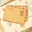 Praha Souvenir de Paris mini kraft brown envelopes