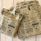 Newsprint vintage style Kraft Brown paper bags