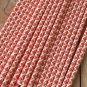 Red Damask paper straws