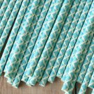 Light Aqua Blue Damask paper straws