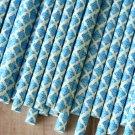 Malibu Blue Damask paper straws
