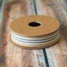 East of India Beige and Blue Stripe ribbon