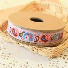 Colorful Paisley jacquard woven ribbon trim