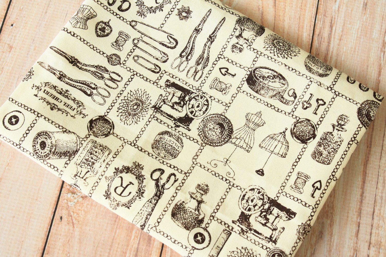 Sewing Tools Cotton Linen blend fabric quarter