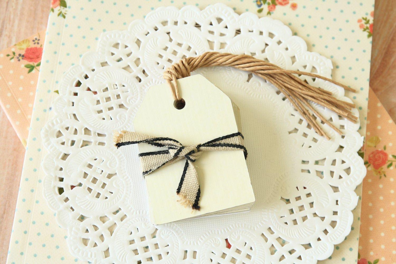 Ivory East of India Medium Luggage gift tags
