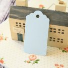 Pale Blue medium scallop swing tags