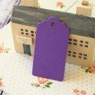 Amethyst Purple medium scallop swing tags
