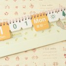 Squirrel Just for You Cartoon Animals Mini desk Perpetual Any Year calendar