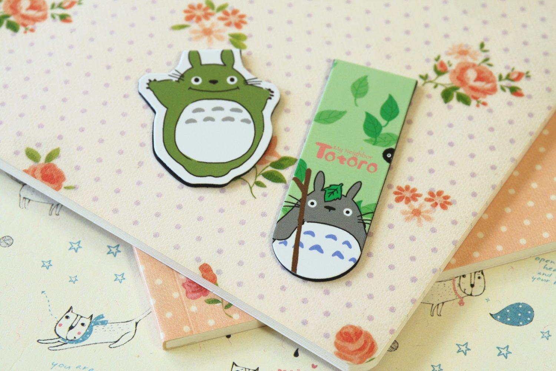 02 Totoro cartoon magnetic bookmark paper clips