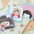 Set 01 Cute Cartoon blank mini greeting cards
