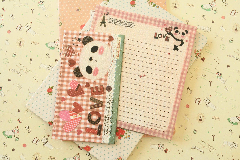 Love Panda Bear Cute Animals & Friends cartoon writing paper and envelopes letter set