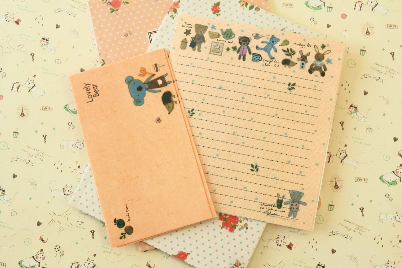 Lovely Koala Cute Animals & Friends cartoon writing paper and envelopes letter set