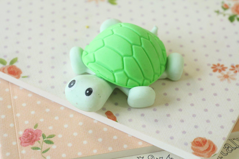 Green Little Turtle Eraser