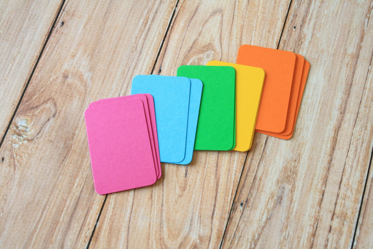 Vibrant Mix blank business cards