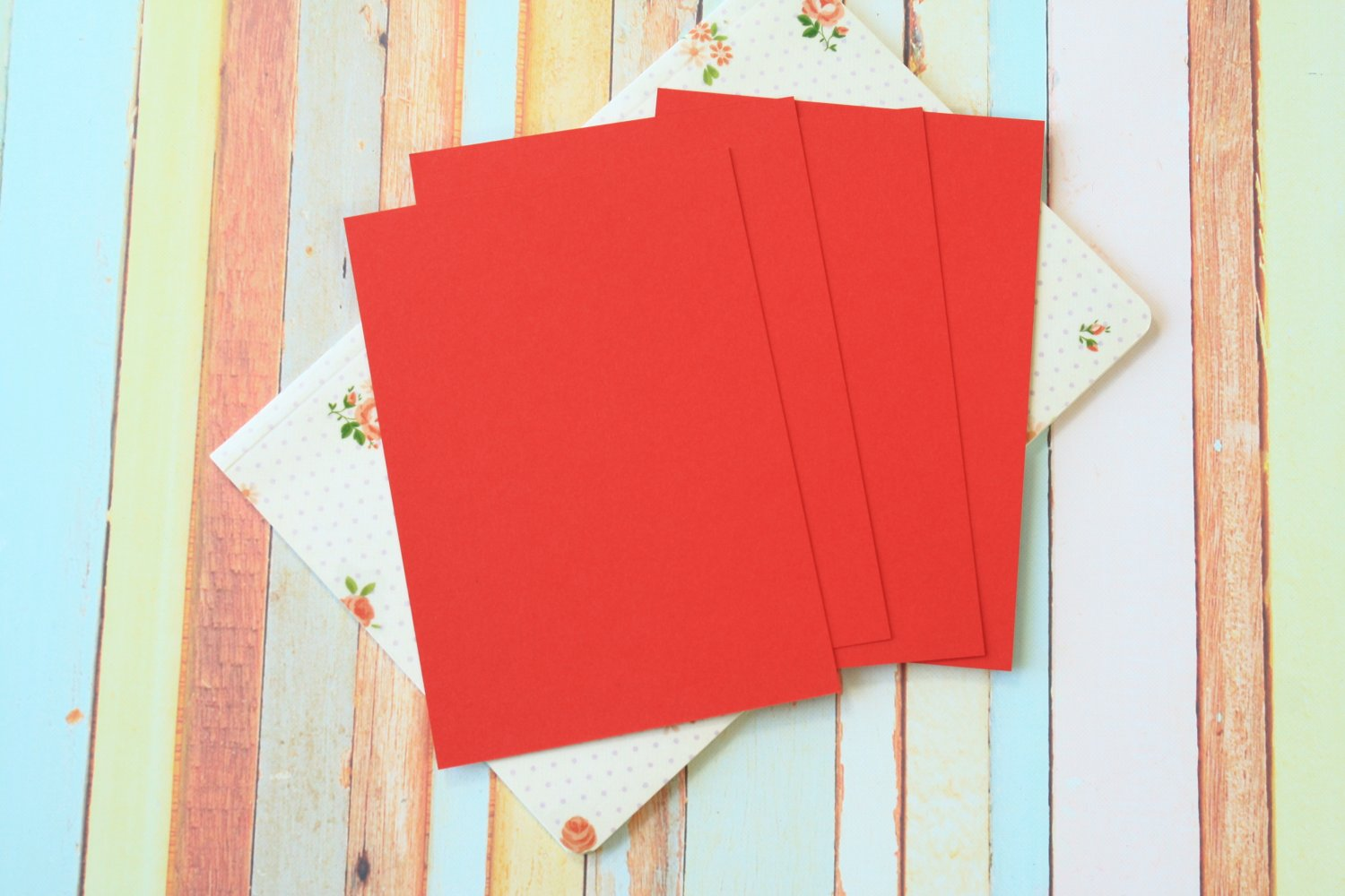 Apple Red Craft Style blank postcards