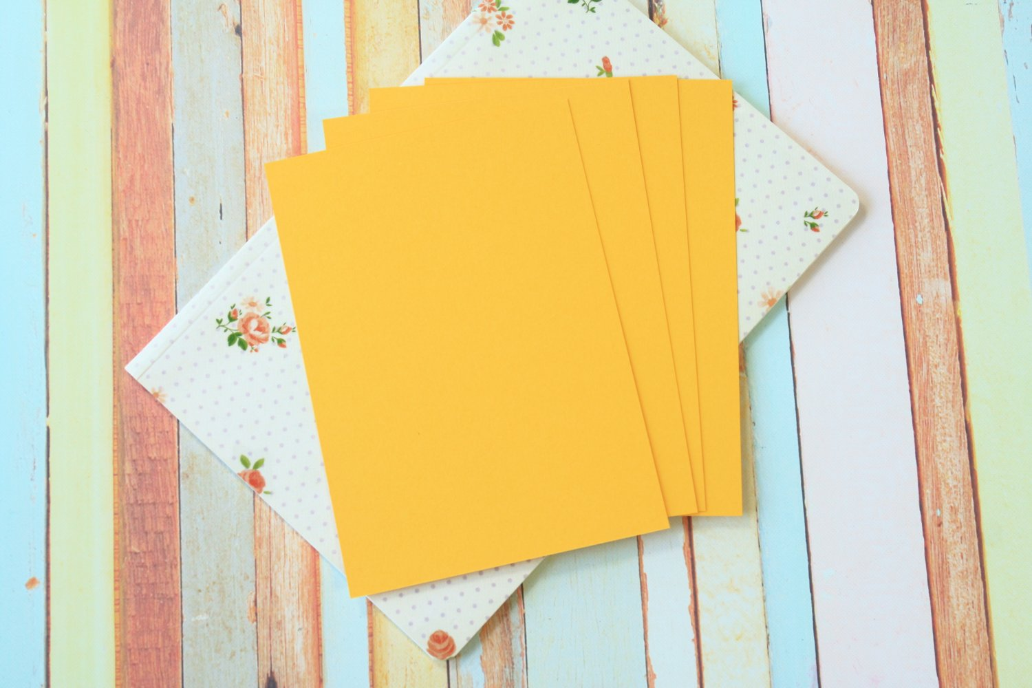 Gold Yellow Craft Style blank postcards