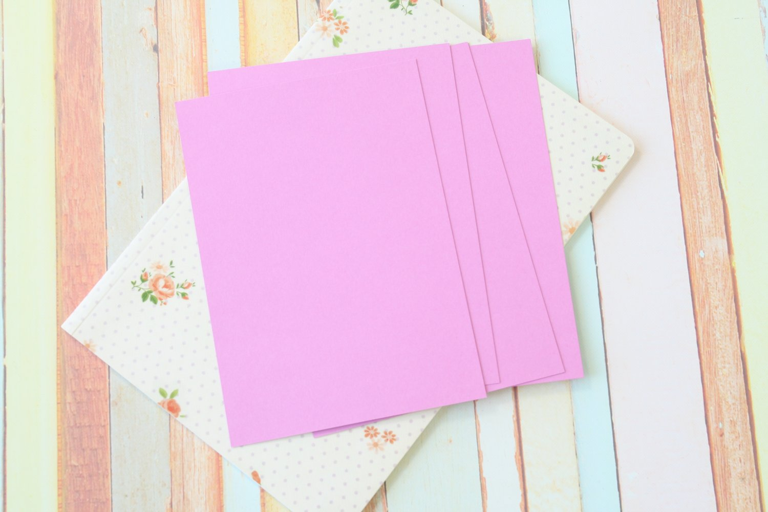 Bouquet Lilac Craft Style blank postcards