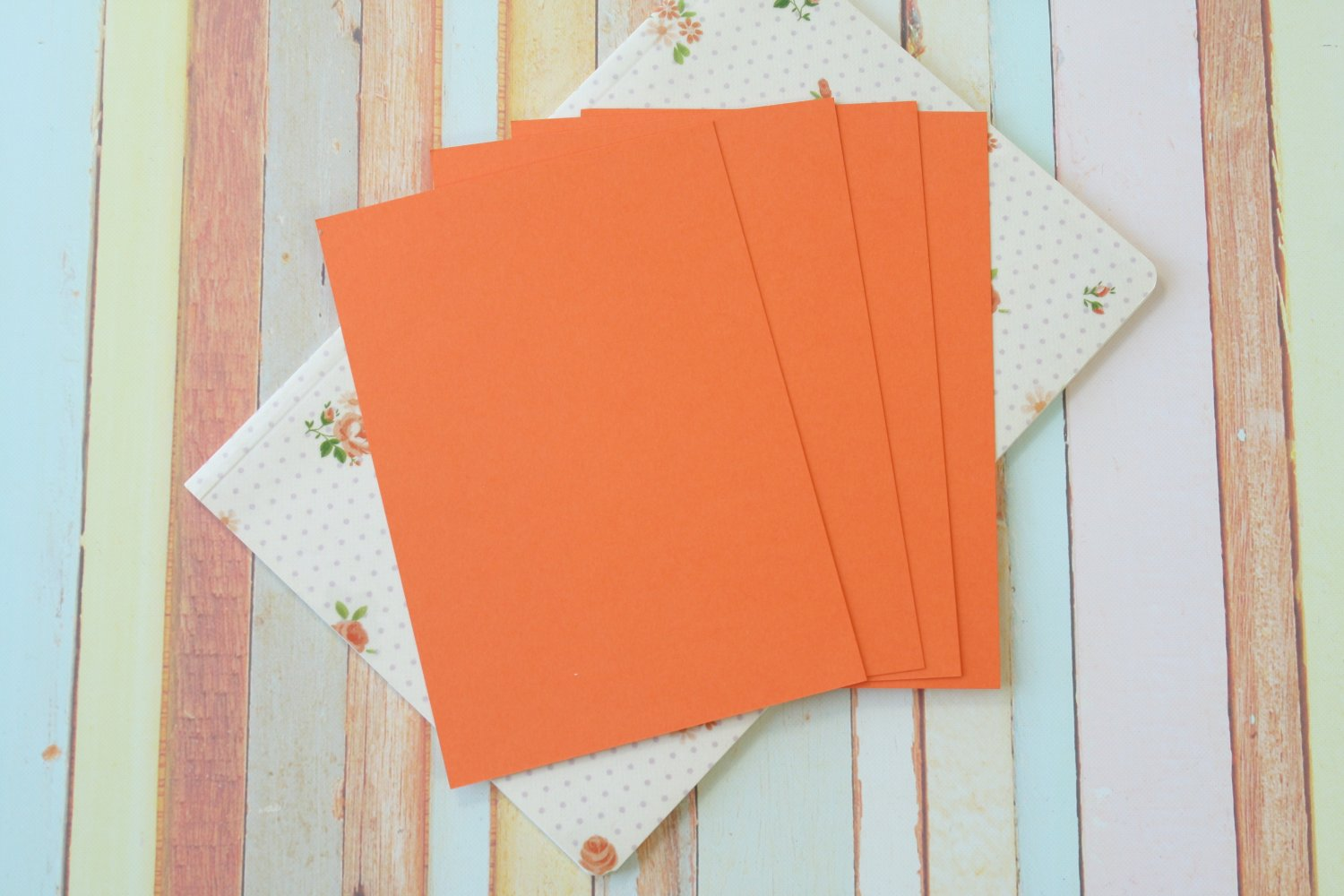 Carrot Orange Craft Style blank postcards