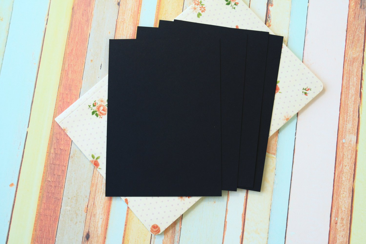 Ink Black Craft Style blank postcards
