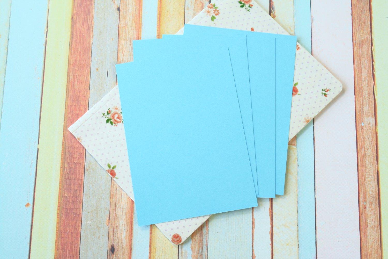 Celestial Blue Craft Style blank postcards
